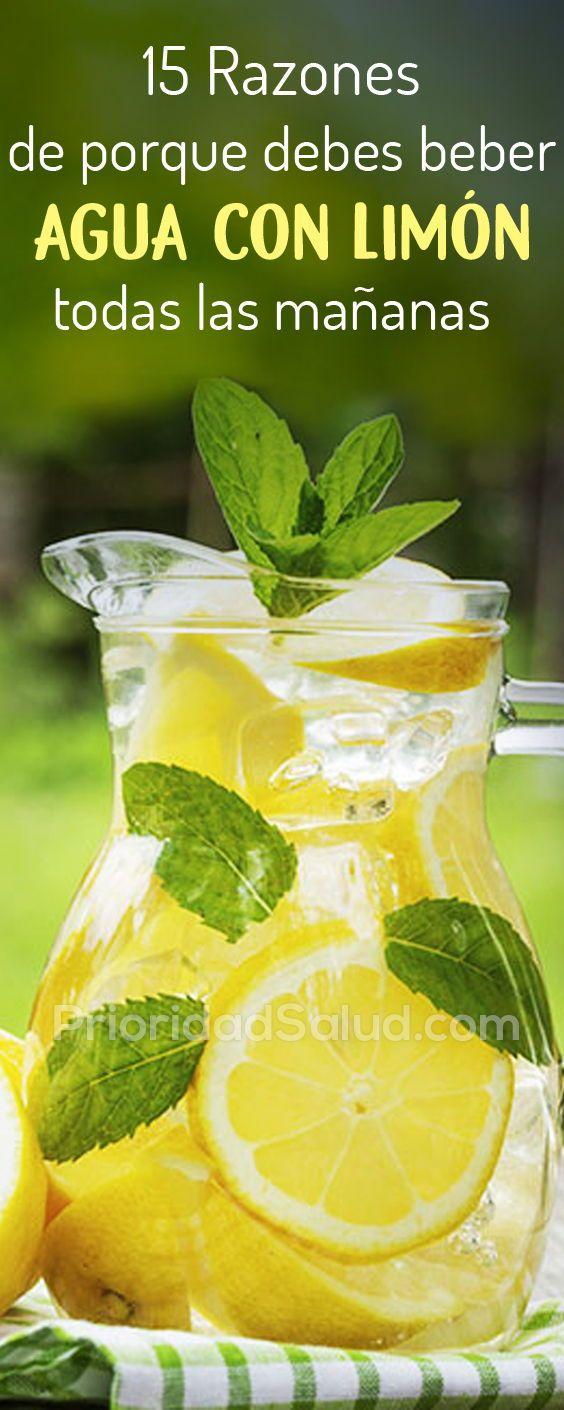beneficios del agua con limón por la mañana