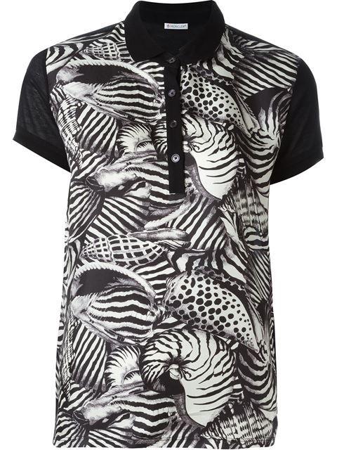 MONCLER Animal Print Polo Shirt. #moncler #cloth #shirt