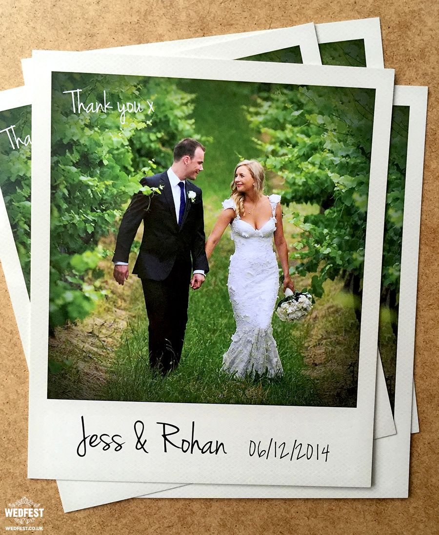 Polaroid Thank You Card Http Www Wedfest Co Why