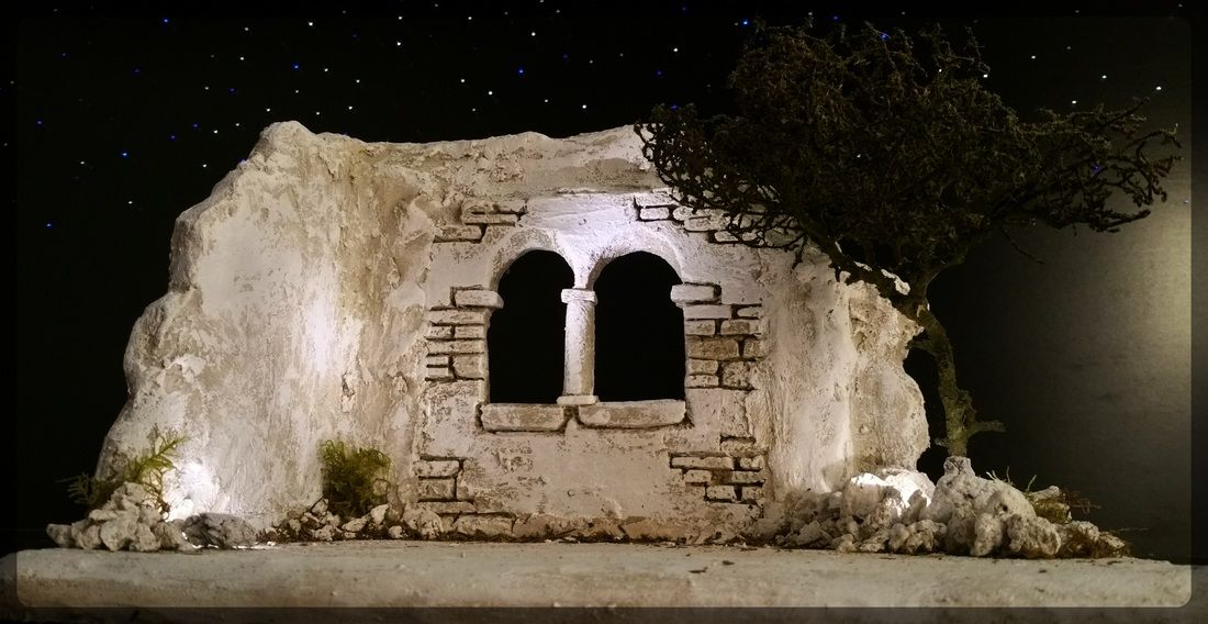 orientalische krippe ruine nativity nativity krippen. Black Bedroom Furniture Sets. Home Design Ideas