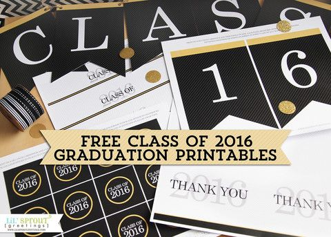 Graduation season is upon us once again and were excited to offer free class of 2016 graduation printables thank you note lil sprout greetings negle Images