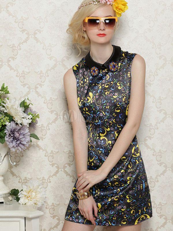 #Milanoo.com Ltd          #Vintage Dresses          #Charming #Black #Polyester #Floral #Print #Vintage #Dress                    Charming Black Polyester Floral Print Vintage Dress                           http://www.snaproduct.com/product.aspx?PID=5709941