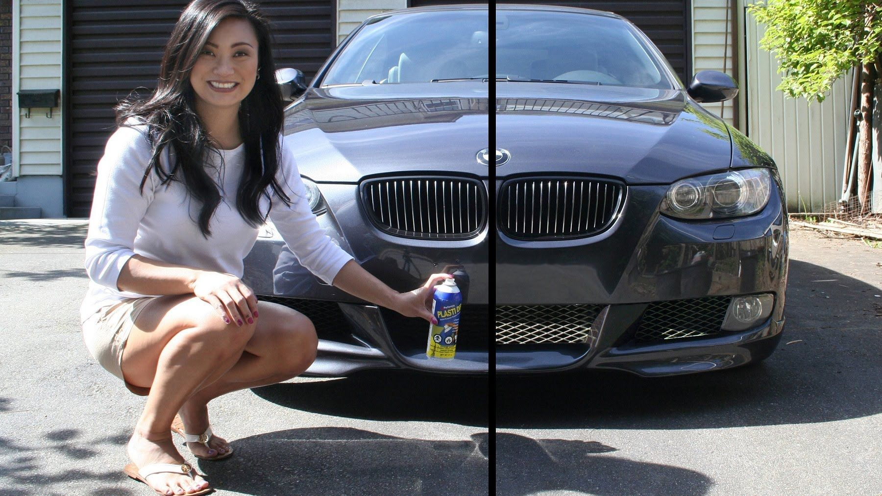 Paint your car in a garage in 1 hour dip your car youtube - How To Plasti Dip Your Car Front Grille