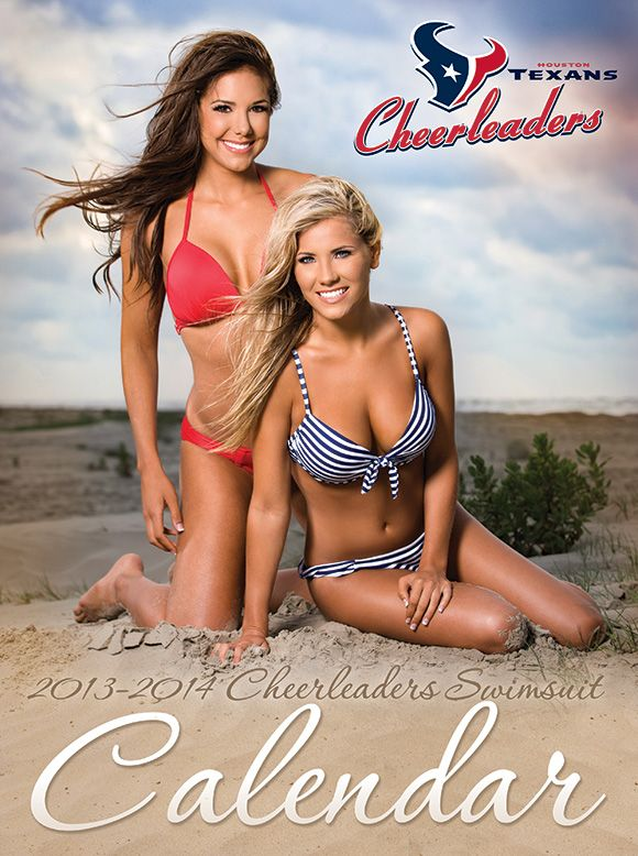 The 2013-14 Houston Texans Cheerleader Swimsuit Calendar cover! Grab YOUR  copy when it goes on sale Saturday, July 27!