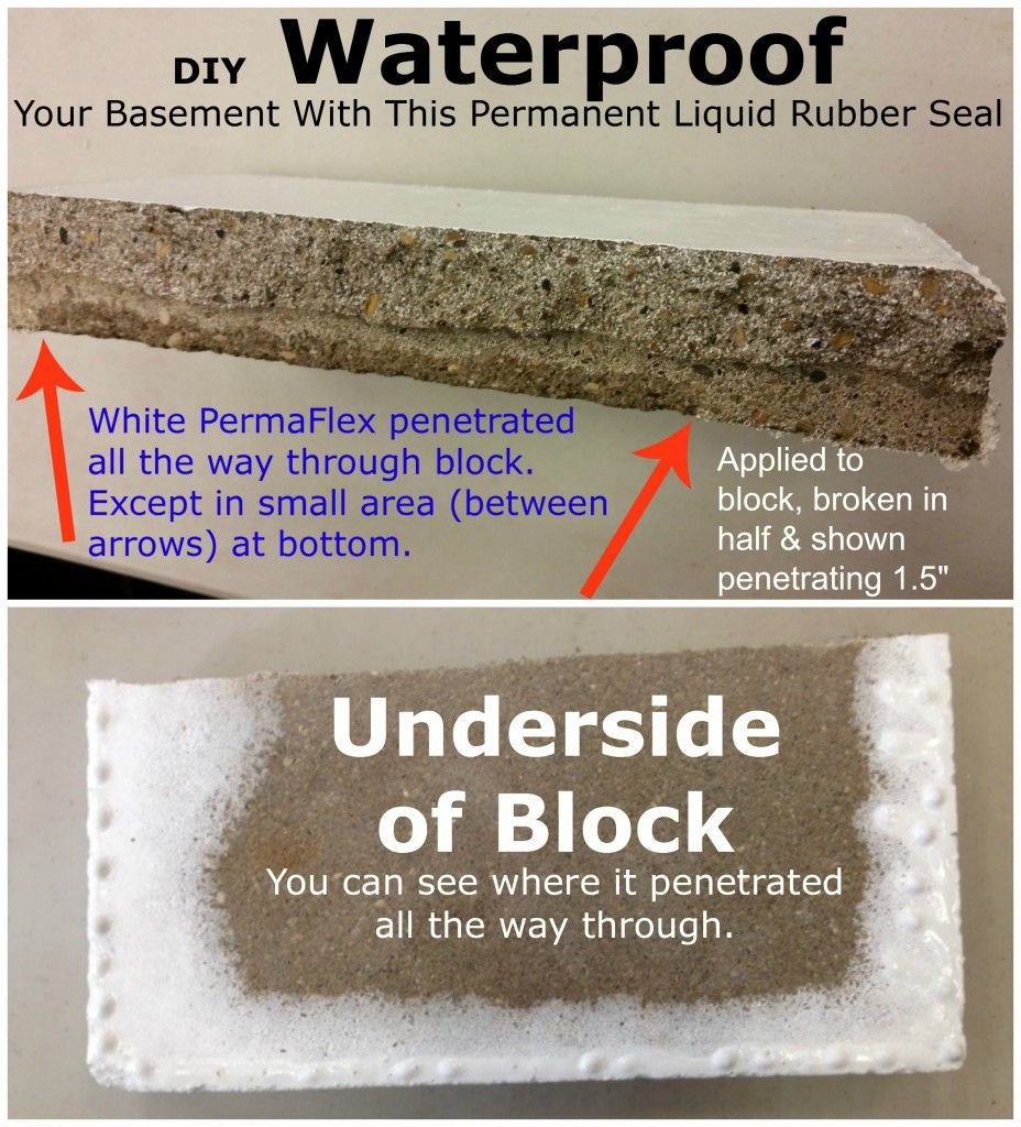 Waterproof your basement diy treated concrete block broken in waterproof your basement diy treated concrete block broken in half when you zoom in you can actually see the white permaflex that penetrated all the solutioingenieria Gallery