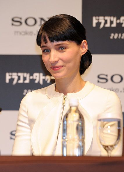 Rooney Mara Photos Photos: 'The Girl with the Dragon Tattoo' Press Conference #loosebraids