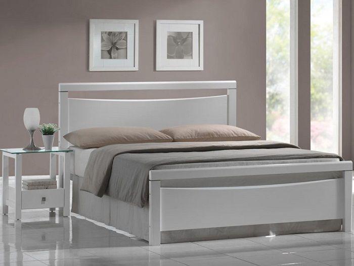 łóżko Drewniane 160x200 Vegas Białe Signal 3662648937