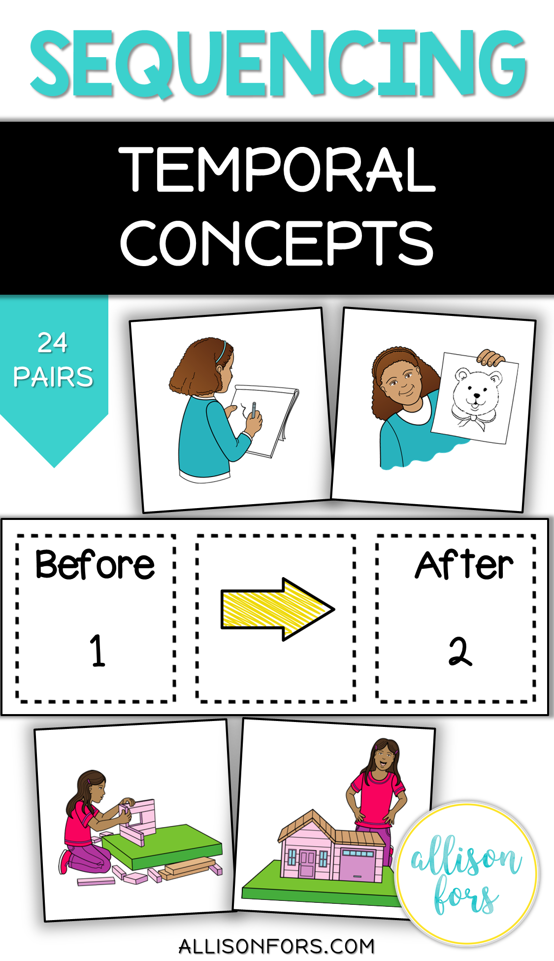 Sequencing Temporal Concepts Cards Speech Therapy