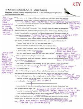 how to kill a mockingbird worksheet answers