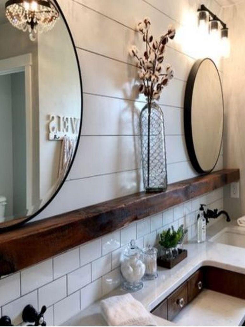 Inspiring Backsplash Bathroom Ideas For Inspiration 08 Small Farmhouse Bathroom Rustic Bathrooms Bathroom Decor