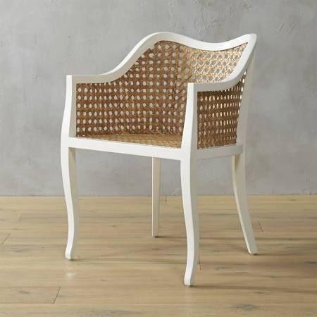 White Modern Rattan Chair   Google Search