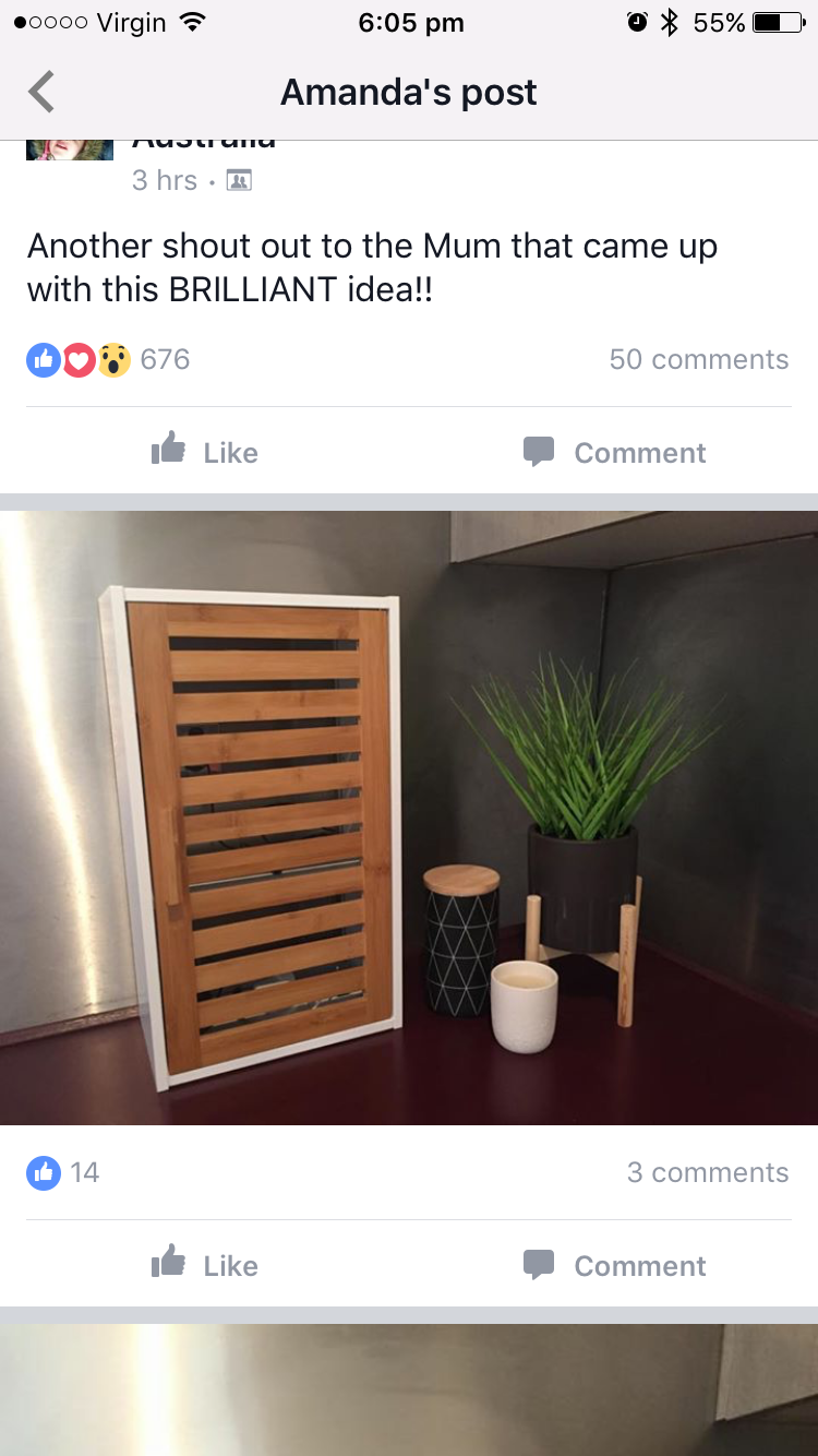 Kmart Kitchen Hack With Bathroom Cupboard