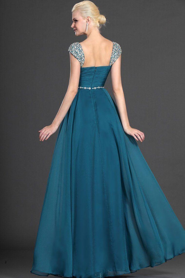 2013 Prom Dresses A Line Floor Length Square Chiffon Beading ...