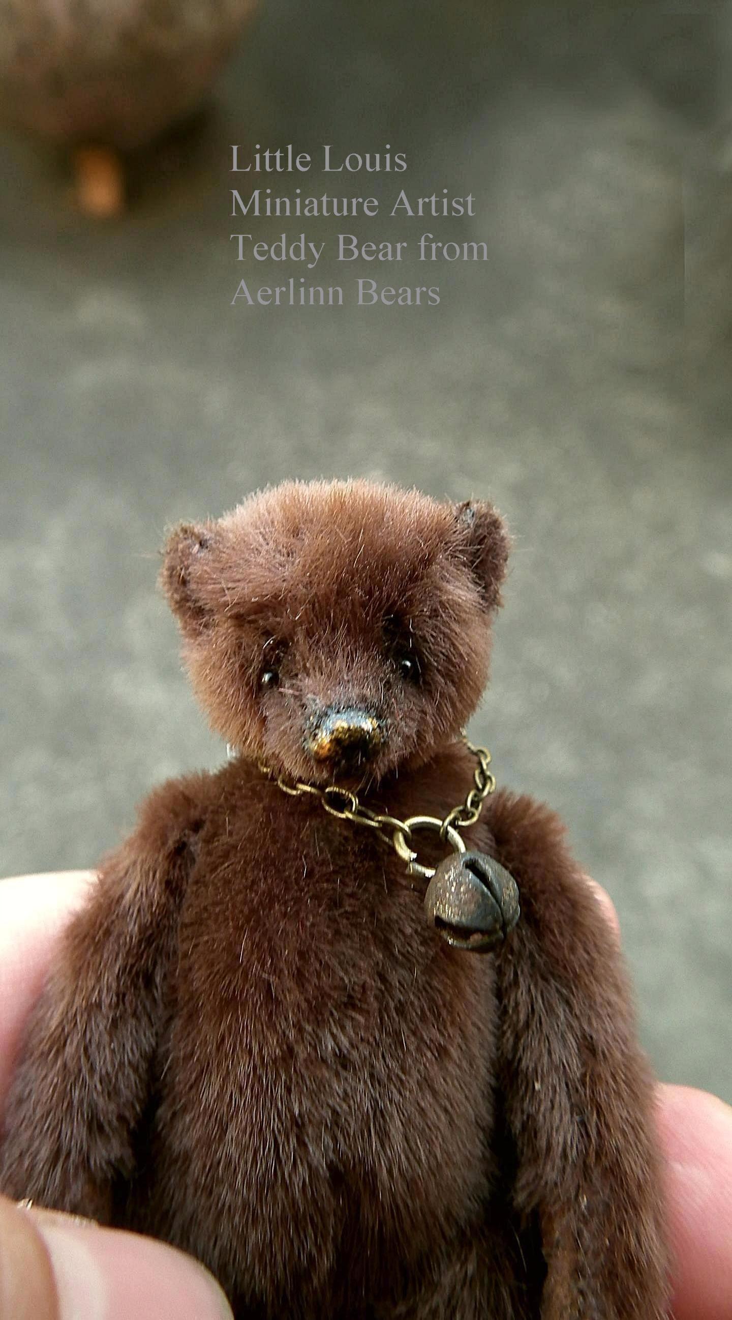 Little Louis 2 3 4 Miniature Artist Teddy Bear From Aerlinn Bears Cuddly Teddy Bear Teddy Bear Doll Bear Stuffed Animal [ 2595 x 1440 Pixel ]