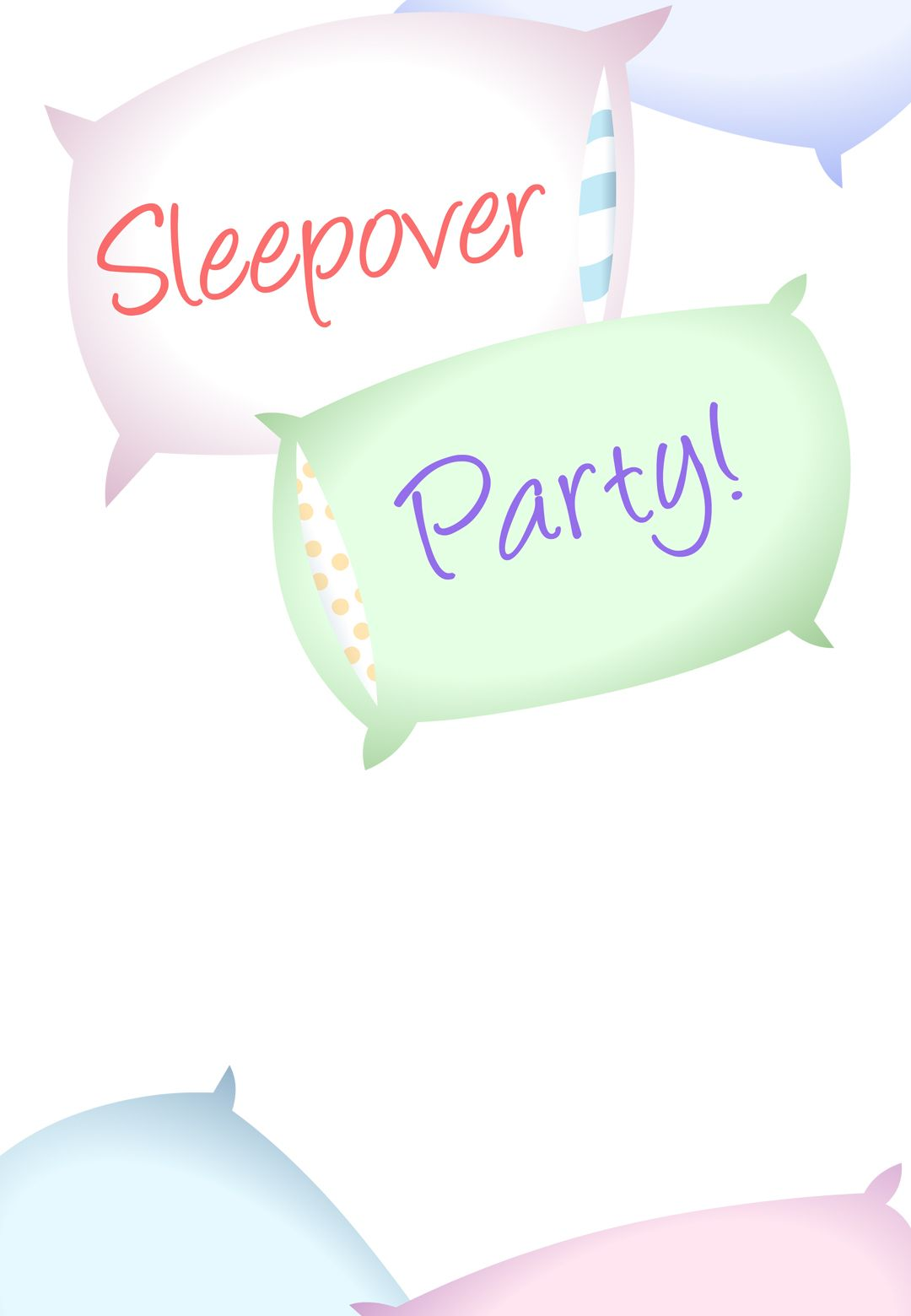 Free Printable Sleepover Party Invitation Helpful Hints cooking