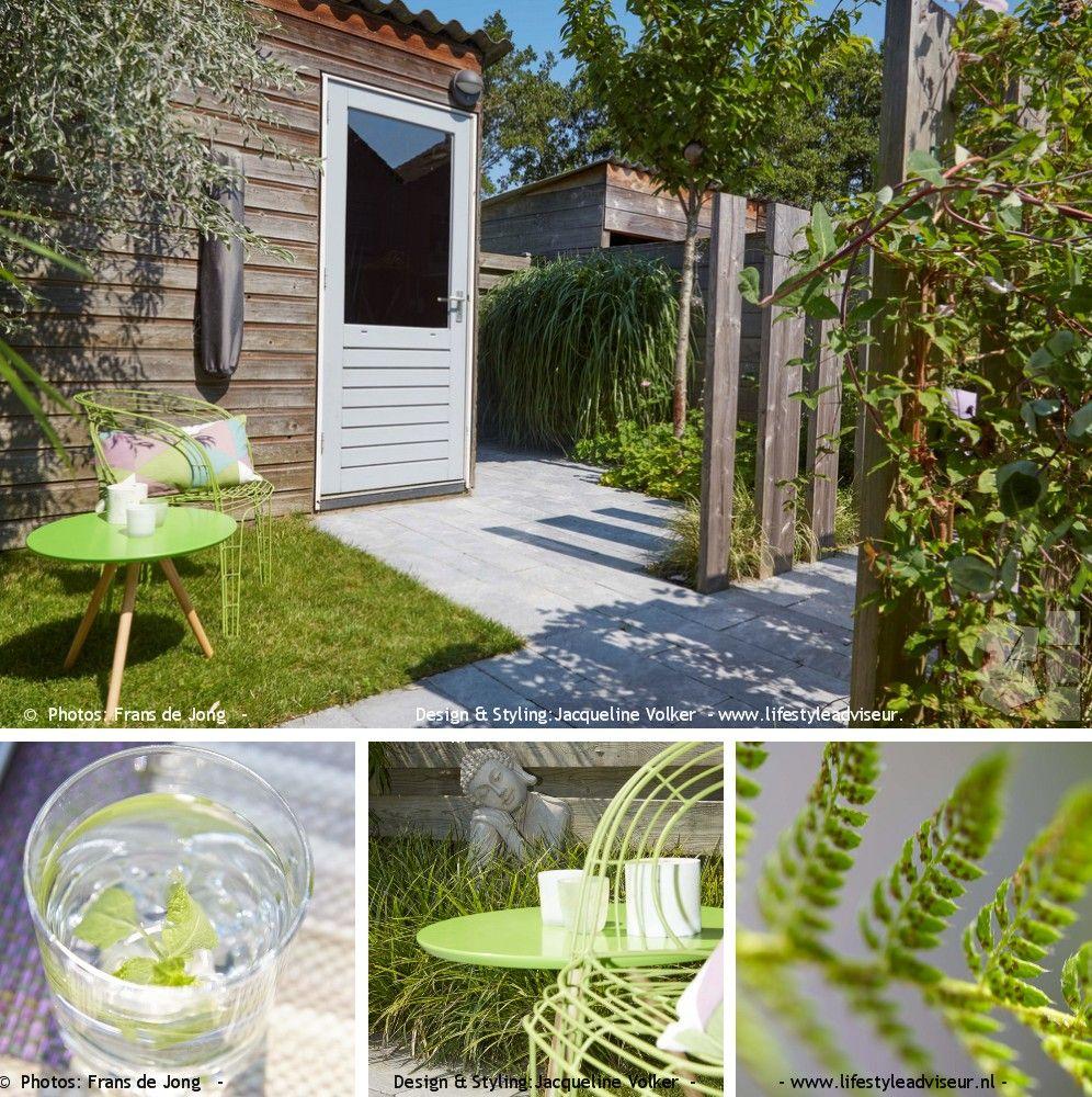 Stadstuin groene buitenkamers in lijn voorbeeld kleine for Garden designs by jacqueline