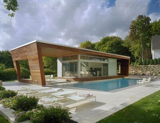 Modern Not Necessarily Minimalist Modern Pool House Pool House