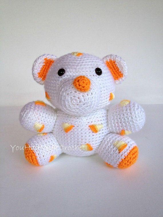 Crochet Candy Corn Bear Doll by YouHadMeAtCrochet | Stricken ...