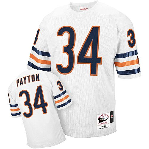 Chicago Bears #34 Walter Payton White Throwback Jersey