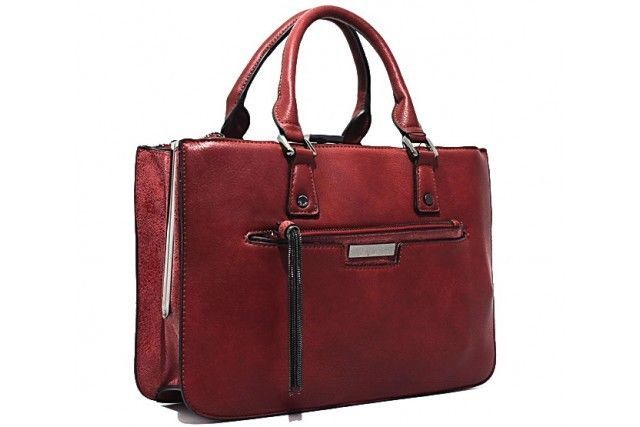 Bessie Couture London Stylish Handbag In Red Le Uk Handbags Leather Tote