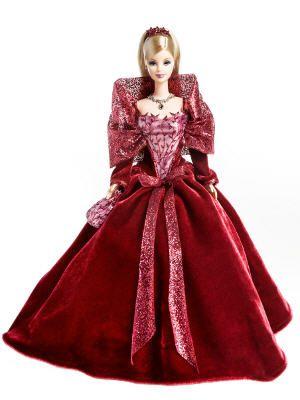 Barbie De Noel 2002 : Barbie velours | Barbie gowns, Christmas barbie dolls
