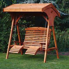 Garden Swings Roofed Comfort Wooden Garden Swing Seat Uk