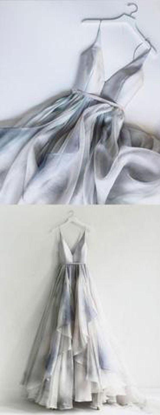 Popular elegant unique v neck inexpensive long prom dresses pm