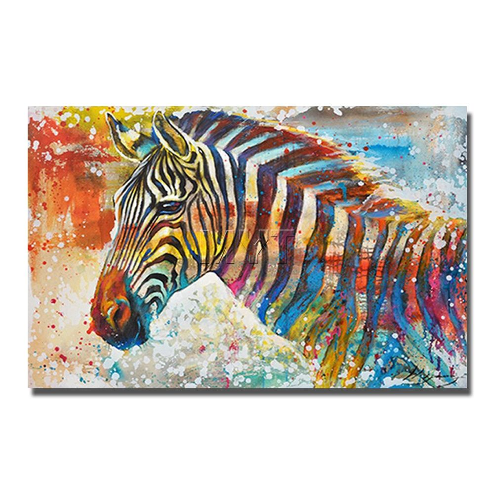 Decoration Peinture Zebre Zebra Oil Painting On Canvas Wall Decor High Quality Painting For