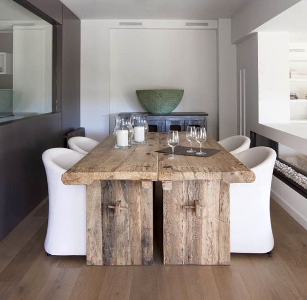 15 Rustic Dining Room Table With Modern Chairs.