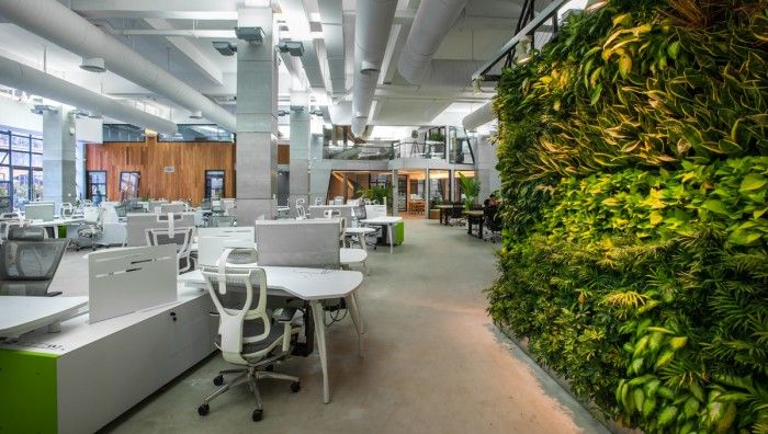 Inside Tencent S New Guangzhou Campus Office Snapshots Open Office Office Building Office Building Architecture
