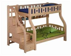 toddler bunk bed. I love the stairs on this one instead of a latter. It seems safer and adds storage.
