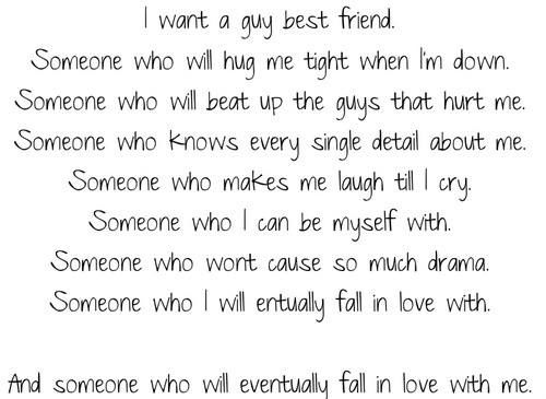 i want a guy best friend