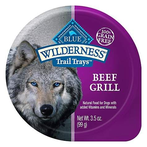 Blue Buffalo Blue Wilderness Trail Trays Beef Grill Wet Dog Food