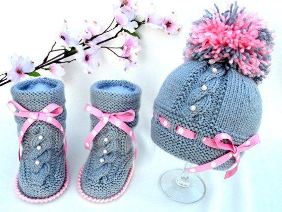 conjunto botines y gorros tejidos a crochet para bebe | patrones ...