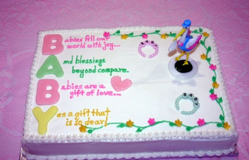 gender neutral baby shower cake sayings
