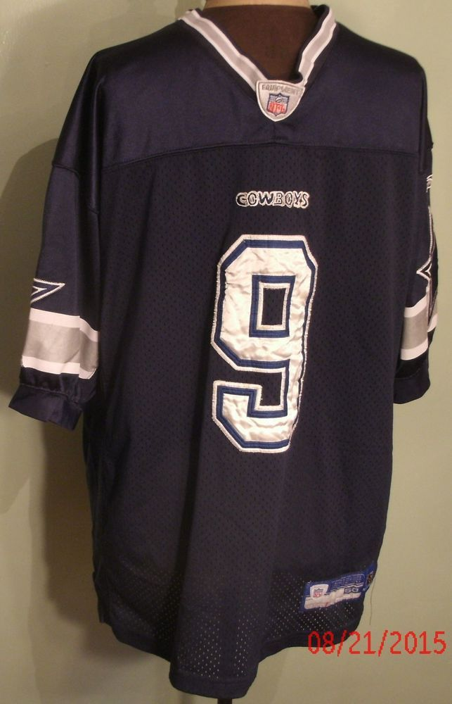 e4378da19 Reebok NFL Jersey Mens Size 50 Blue White Cowboys  9 Romo Football Dallas  Stars  Reebok  Jerseys