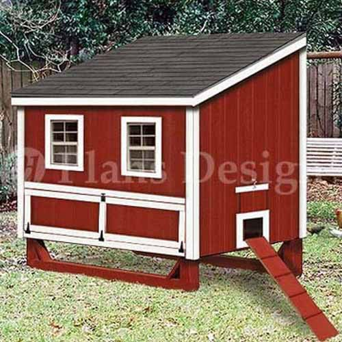 Easy Diy 4 X6 Chicken Coop Hen House Plans Pdf: Details About 4'x6' Lean -To Hen / Chicken Poultry Coop