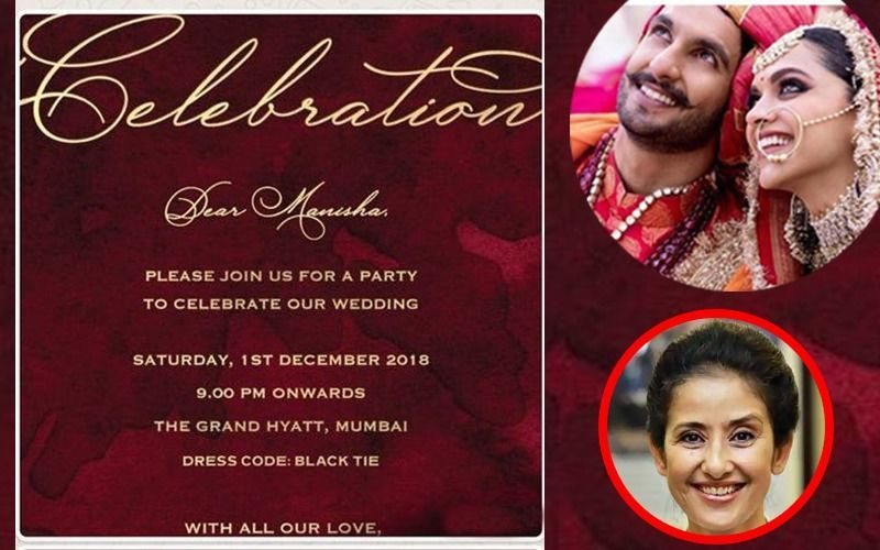 Deepika Padukone-Ranveer Singh Special Wedding Reception ...