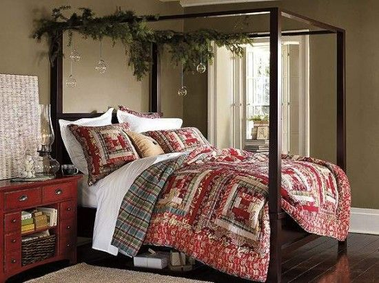 Pottery Barn Master Bedroom Decorating Ideas: Christmas Decorating Ideas For Your Master Bedroom This