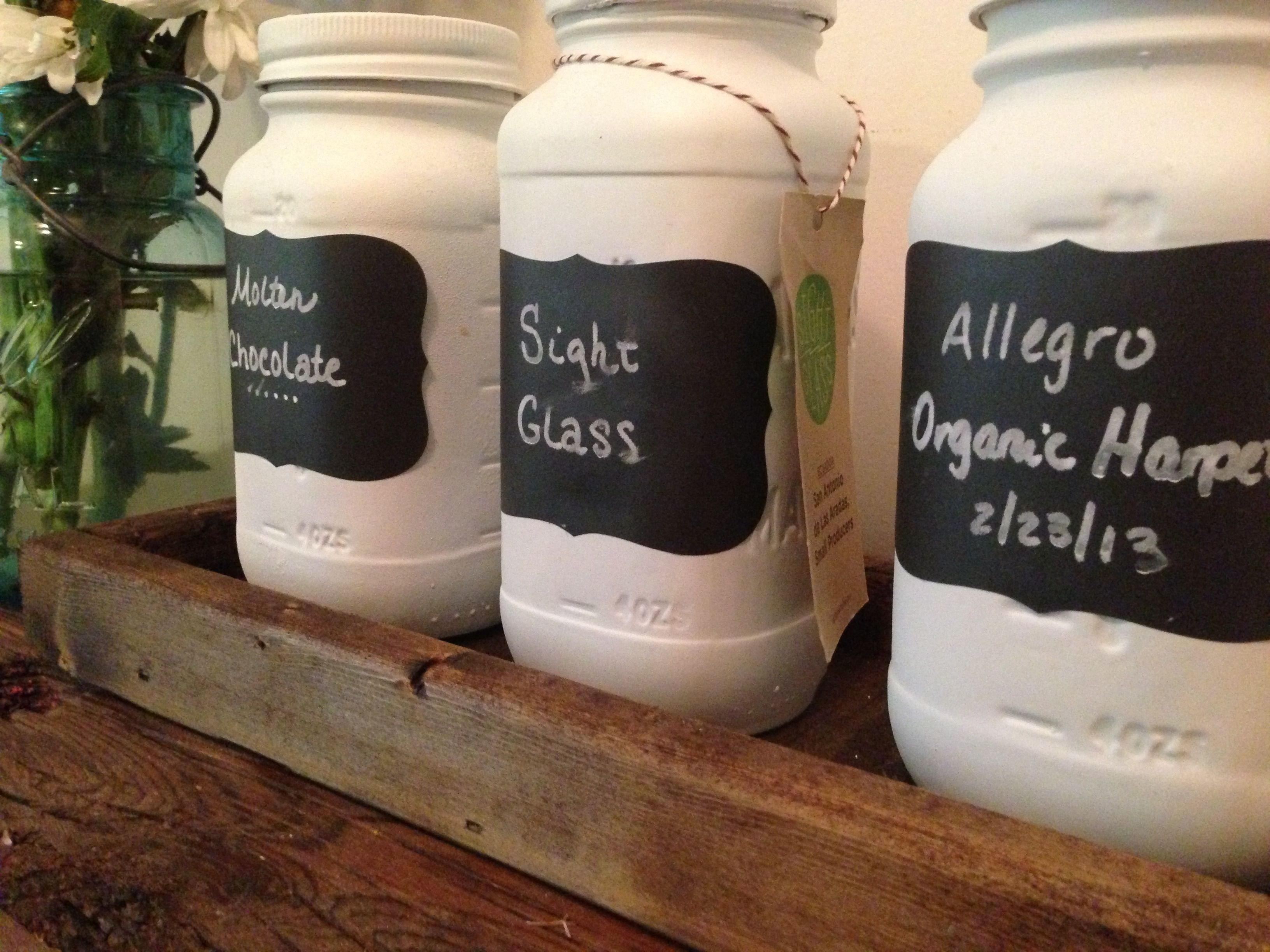 Coffee Canisters With Chalkboard Labels
