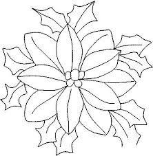 Resultado De Imagen Para Moldes De Flores Grandes Para Imprimir Hojas De Navidad Para Colorear Flor De Nochebuena Pintura En Tela Navidad
