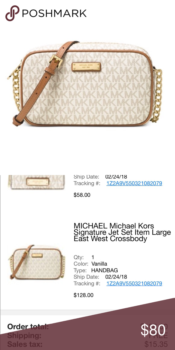 325e2e7286538d Michael Kors Vanilla crossbody 💕 Purchased less than a month ago with  wallet from Macy's.