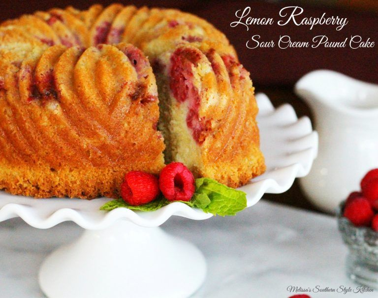 Lemon raspberry sour cream pound cake with images sour