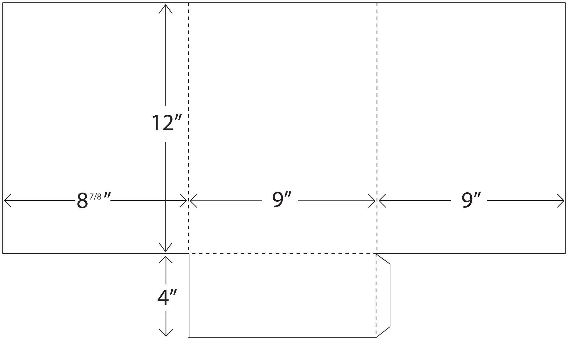 single pocket tri fold presentation folder template packaging