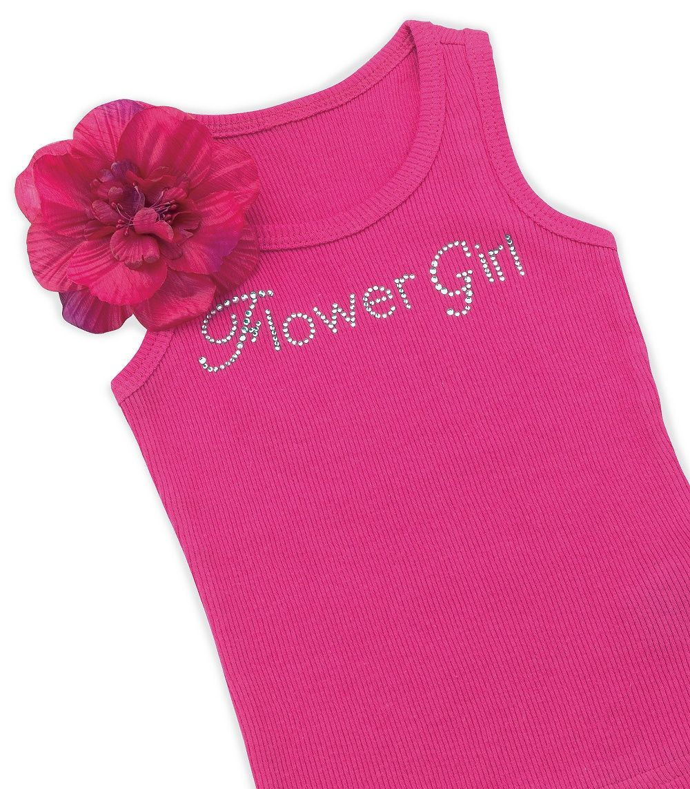 Flower Girl T-Shirt with Removable Silk Flower ...