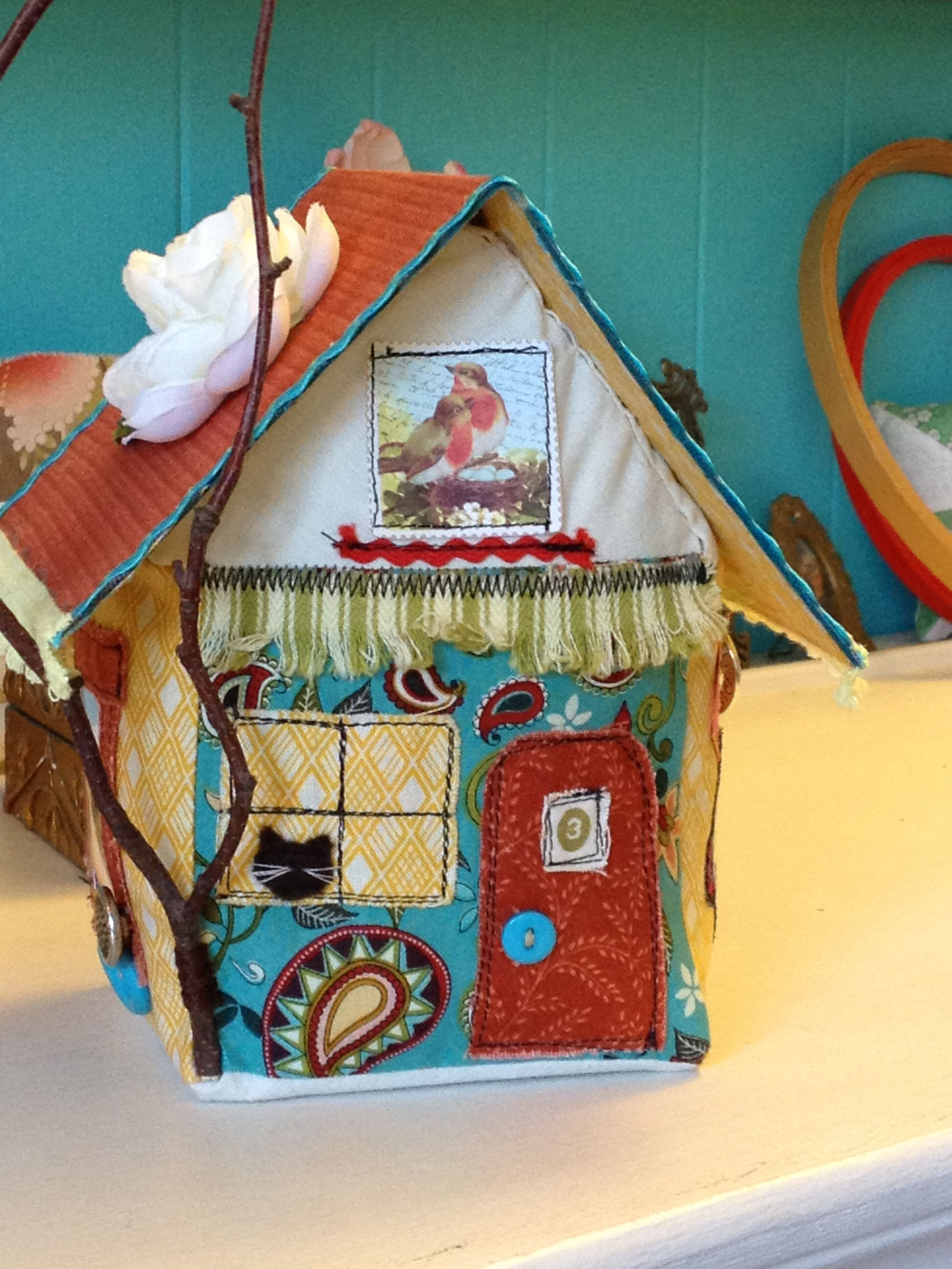 Fabric House For Bev Fabric Doll House Fabric Houses Crafts