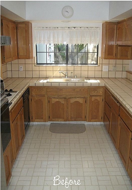 Before Amp After Carolyn S Quot Yucky Quot 1980s Kitchen Kitchens