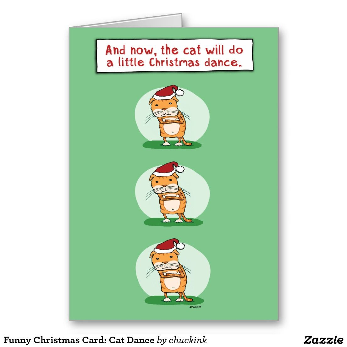 Funny Christmas Card: Cat Dance Holiday Card