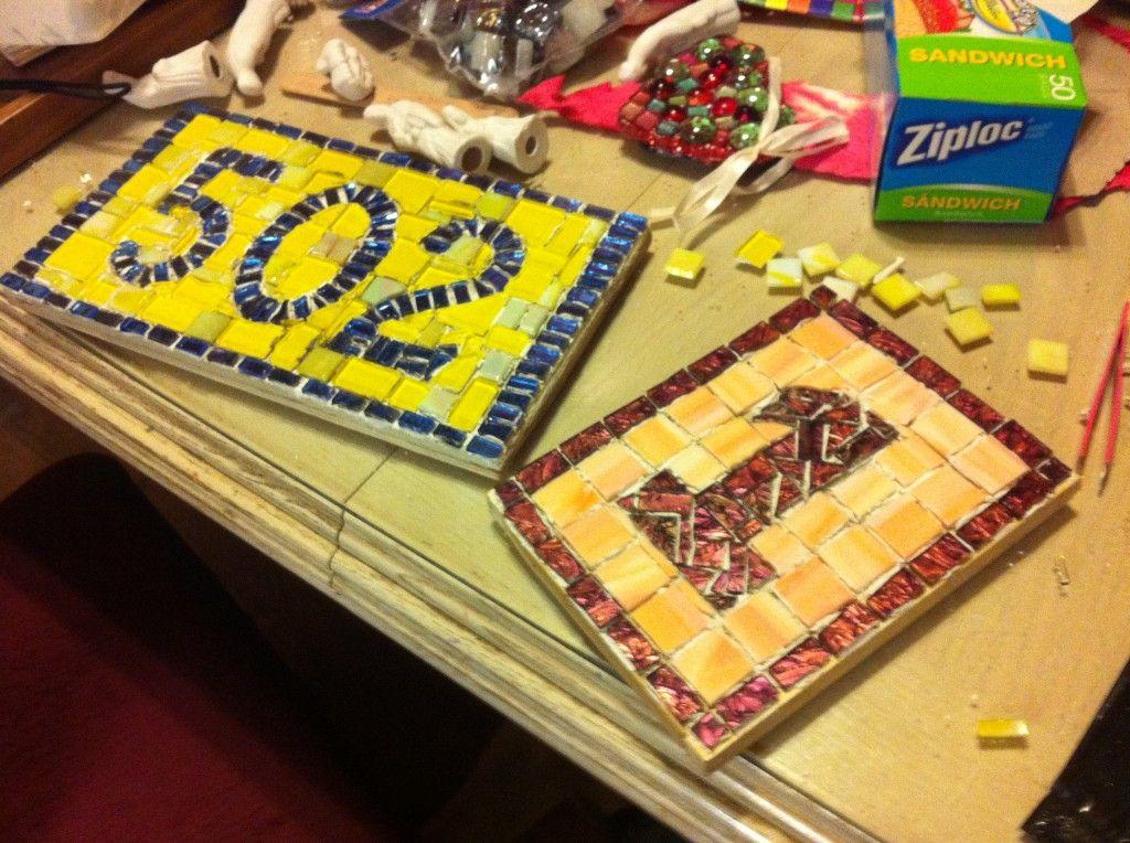 How To Make A Mosaic House Number Mosaic Art Mosaic House Mosaic Diy