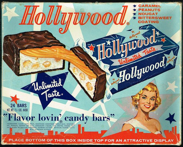 Hollywood Candy Bar Display Box | Classic Ads | Vintage